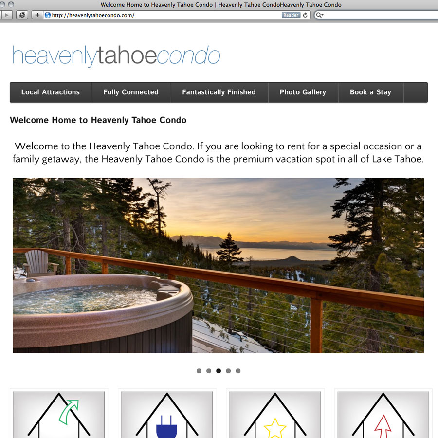 Heavenly Tahoe Condo Site Redesign - Friday Next Web Development