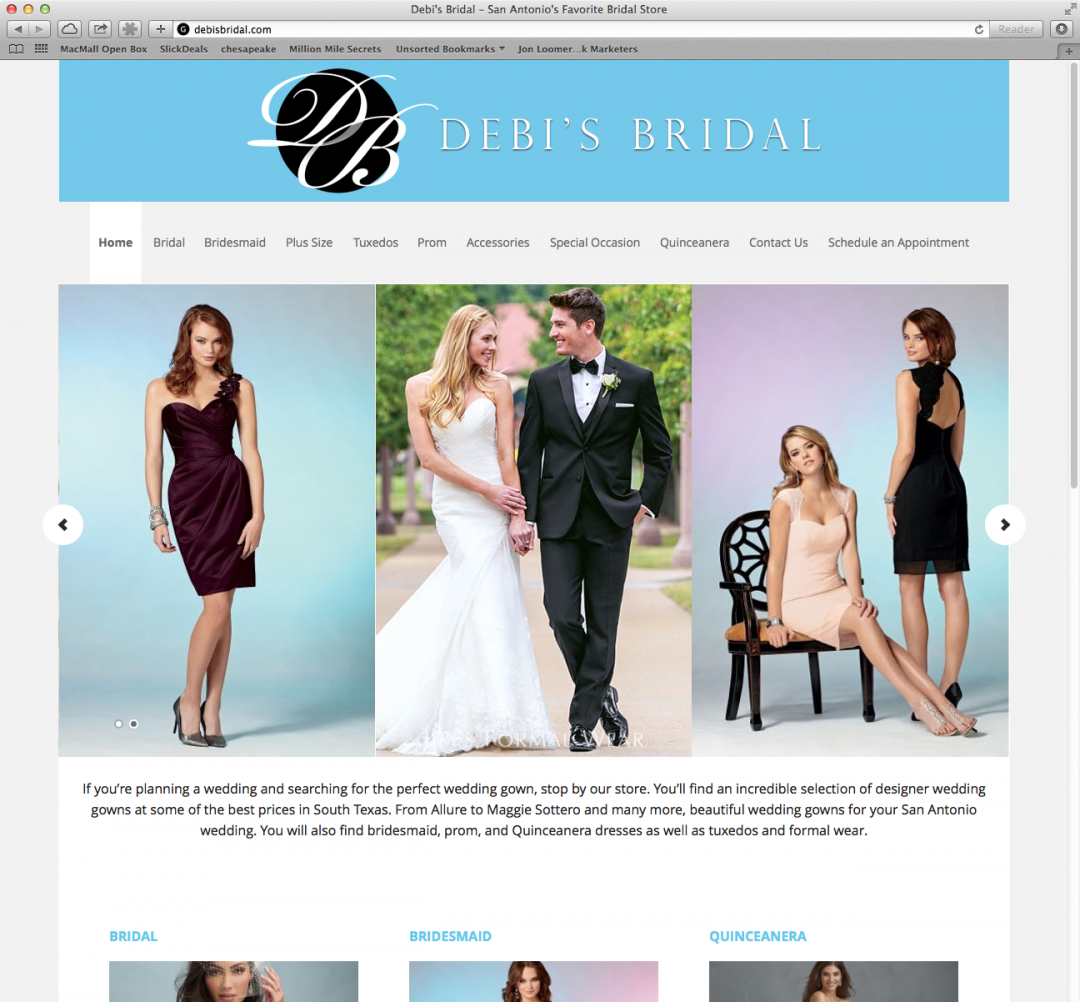 WordPress Website Development - Debis Bridal